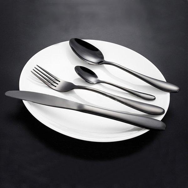 3ec1fc368cf KCASA™ Aço inoxidável preto ouro talheres talheres talheres garfo faca e  colheres ...