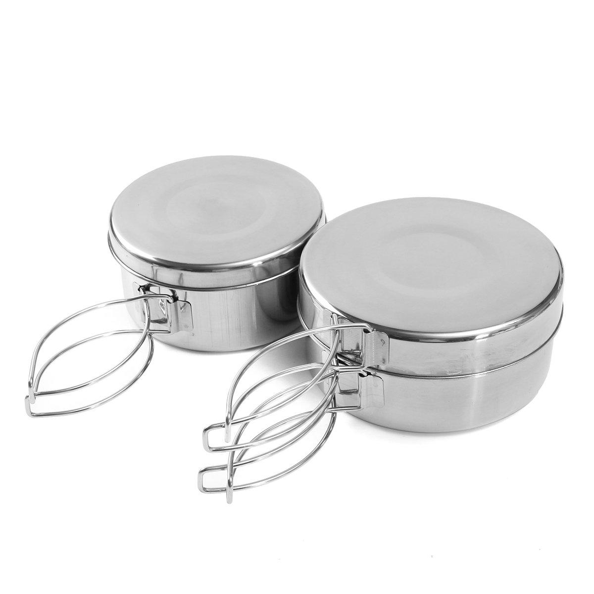 4 stuks Camping Picknick Cookware Set Koken BBQ Pot Pan Bestek