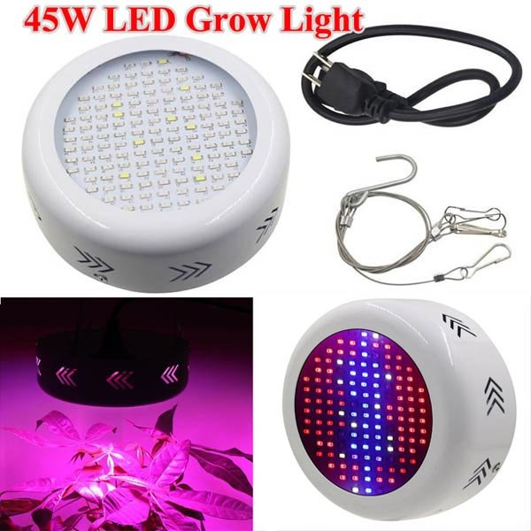 7ed88ff0097 UFO 45W Gardening Full Spectrum LED Plant Grow Light Greenhouse Plant  Seedling Lamp