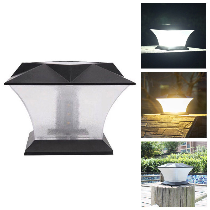 Solar 18 Led Waterproof Pillar Light Garden Lawn Landscape Decoration Lamp Cod