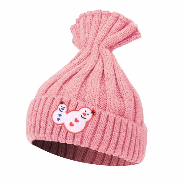 Kinder Boys Schneemann Strick Waschbär Pom Beanie Hat Girls Stricken