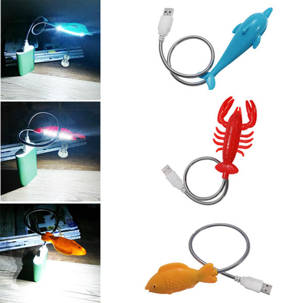 Creative Cute Animal Shape LED USB Night Light For Notebook PC Laptop Power Bank
