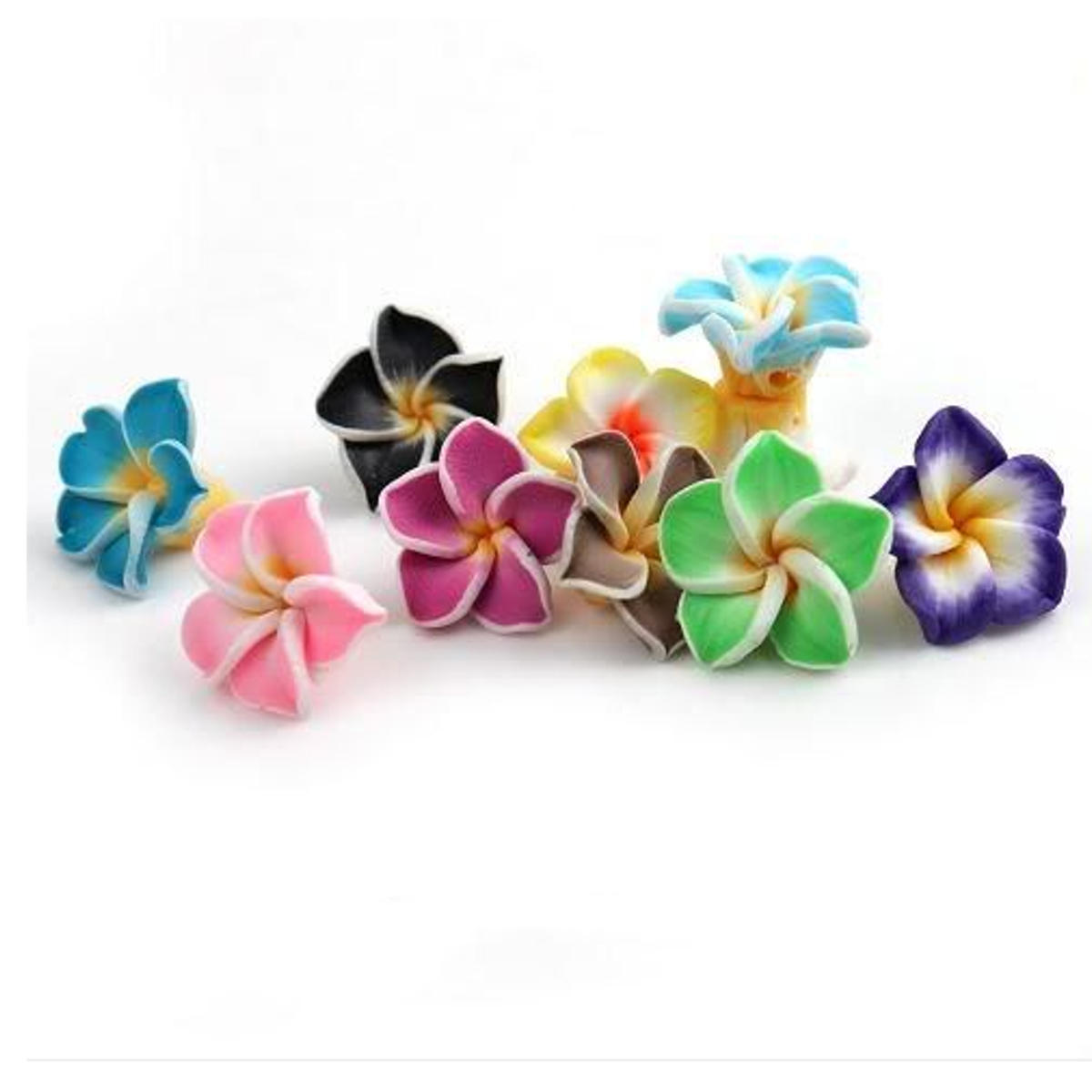 50pcs Multicolor Polymer Fimo Clay Flower Diy Craft Spacer Loose