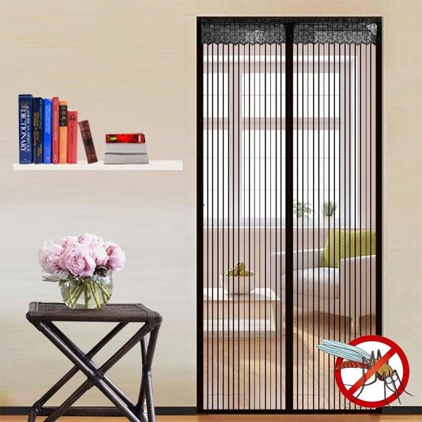 rideau de porte d 39 t ray transparent magn tique de fermeture automatique sans bruit anti. Black Bedroom Furniture Sets. Home Design Ideas