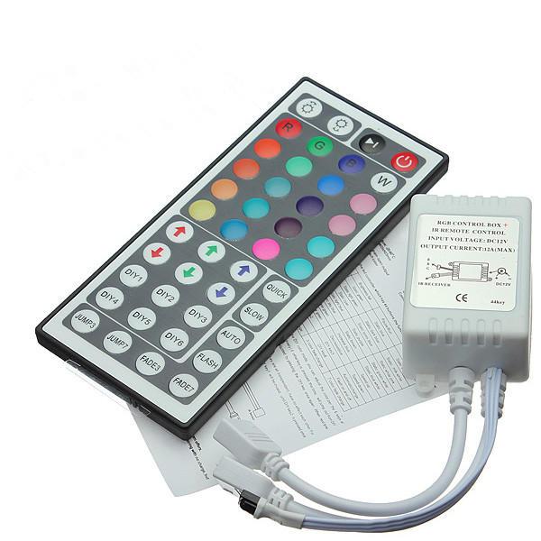 44 คีย์ IR รีโมท คอนโทรลเลอร์สำหรับสายรัด RGB LED Strip DC 12V