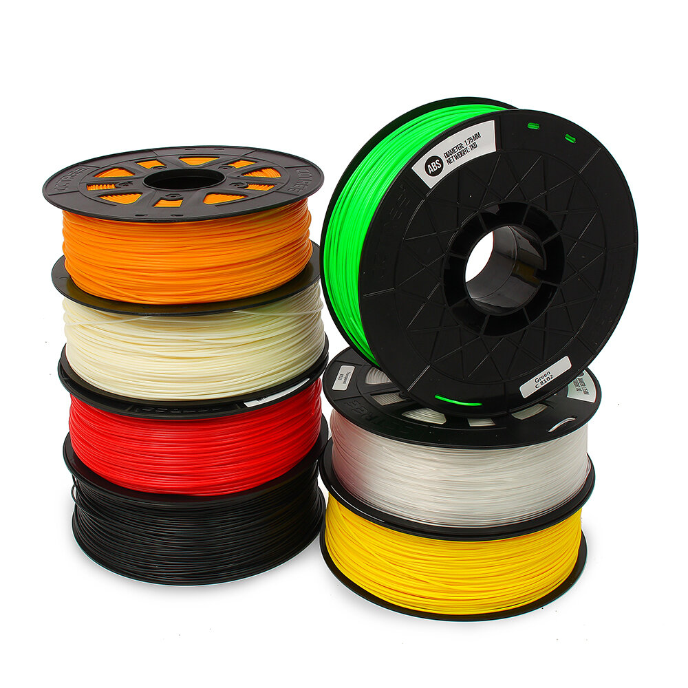 CCTREE® 1KG/Roll 1.75mm Many Colors ABS Filament for Crealilty/TEVO/Anet 3D Printer