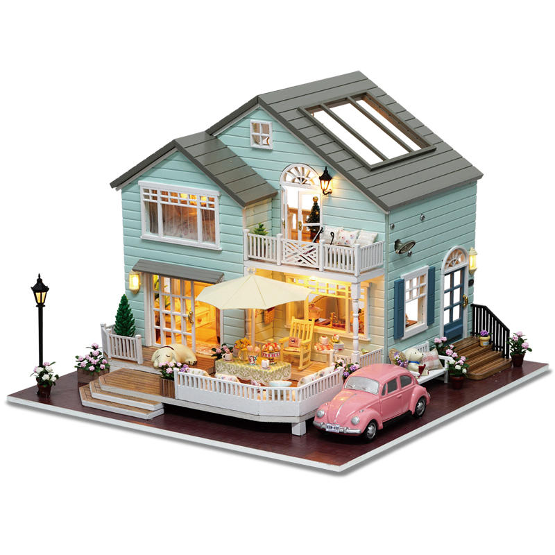 Cuteroom A 035 A Queens Town Diy Dollhouse Miniature Model With