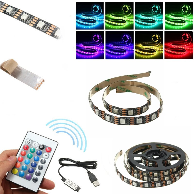 nicht wasserdichte usb dc5v smd5050 rgb led band tv hintergrund streifen licht mit fernbedienung. Black Bedroom Furniture Sets. Home Design Ideas