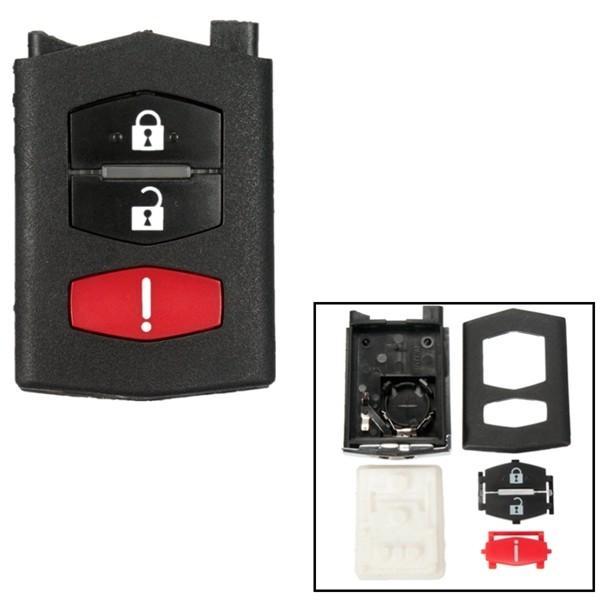 Flip 3 botones de entrada sin llave shell caso caja remota clave reparación fob para Mazda 3