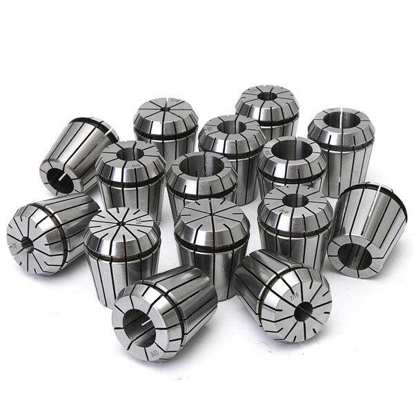 15pcs 1/8 à 1 pouce ER40 Jeu de pinces à ressort pour outil de fraisage CNC