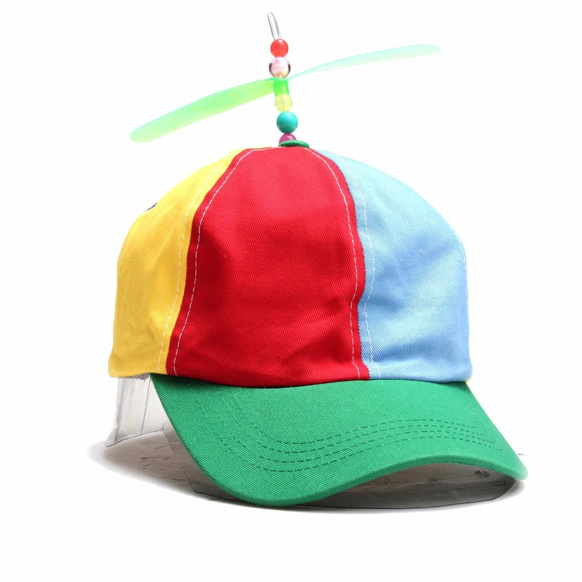 471d0b0b46df5 women copter helicopter propeller hat multi-color patchwork ...