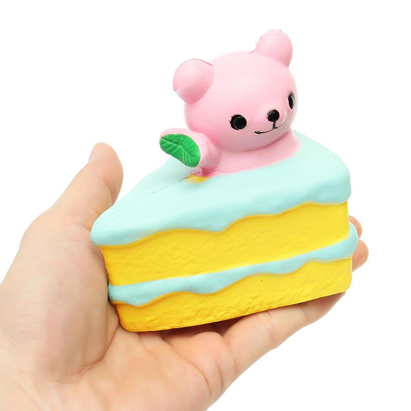 หมี Squishy เค้ก 10 ซม. สุ่มสีช้า Rising สะสมของขวัญของเล่นตกแต่ง