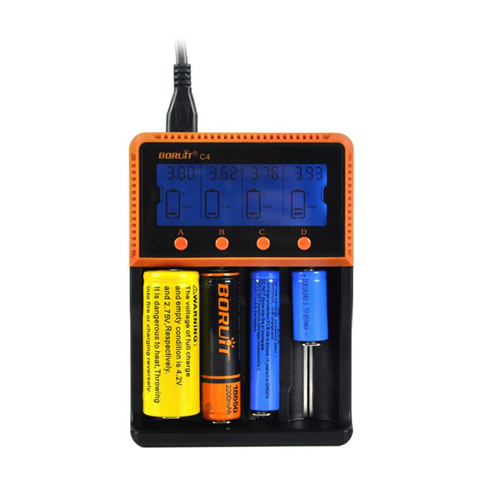 BORUiT C4 4 Слот Универсальный 18650 LCD Дисплей AA AAA Li ion Аккумулятор Батарея Цифровое зарядное устройство