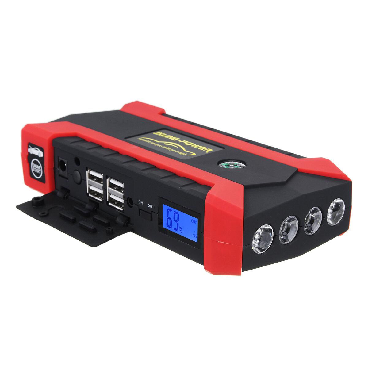 16000mAh 12V 4 USB Kit de démarrage pour chargeur de propulseur Batterie Star Starter pour voiture
