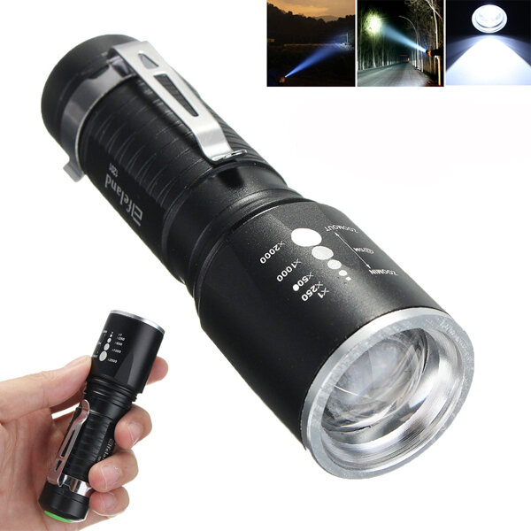 De 1201 L T6 Zoomable 18650 2000lm Led Poche 5modes Xm Aaa Elfeland Lampe trxQdhCs