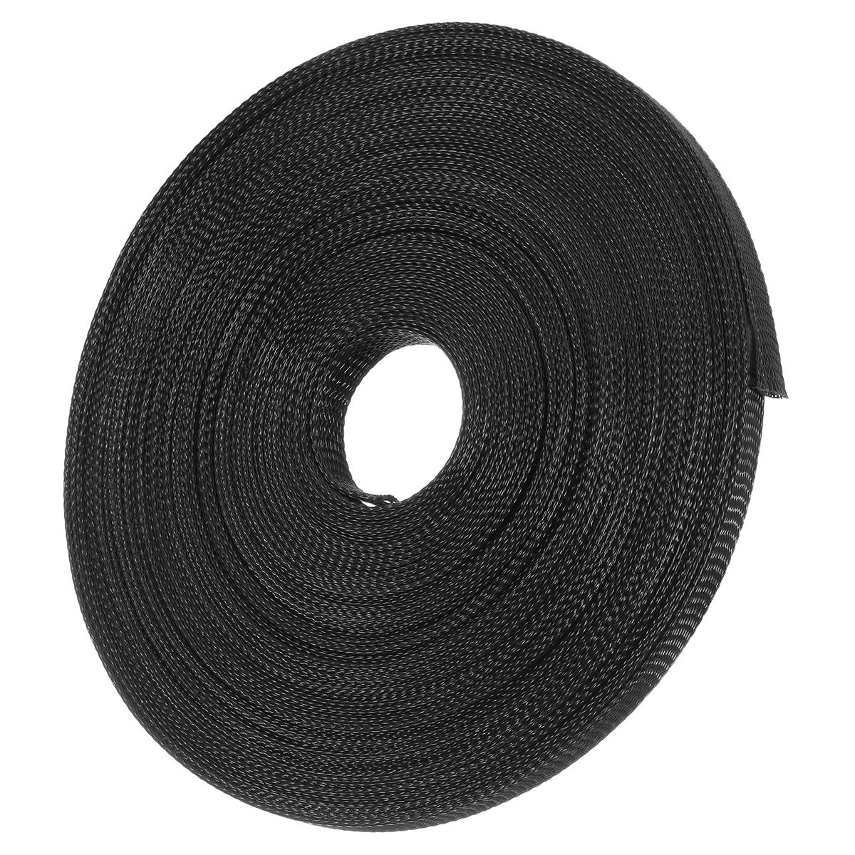 Braided Nylon Wire Loom | 15m 8mm 10mm 12mm 15mm 20mm Expandable Wire Cable Sleeving Sheathing