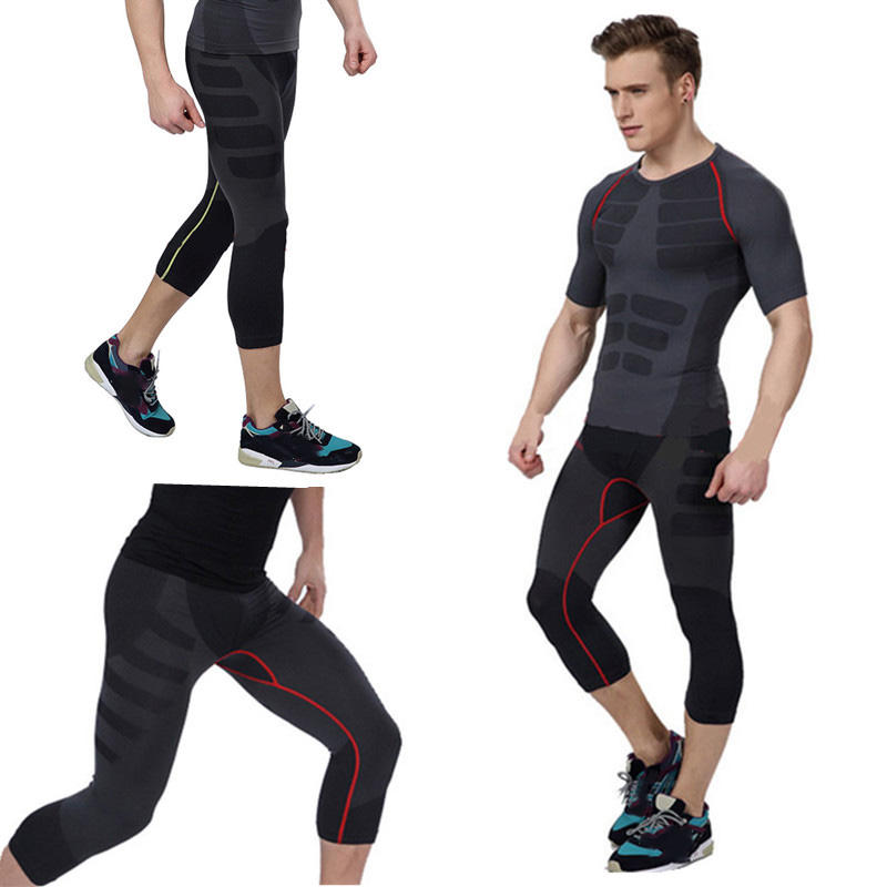 db45b5642ca25 Men''s Compression Base Layer Fitness Sport Gear Tight Gym Wear Pants  Legging Tracksuit COD
