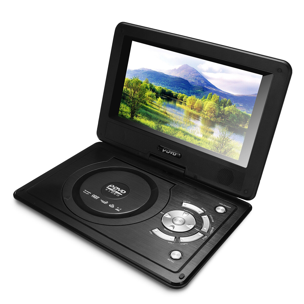 12 4 inch 270 rotation screen portable car dvd player support game tv rechargeable sale. Black Bedroom Furniture Sets. Home Design Ideas