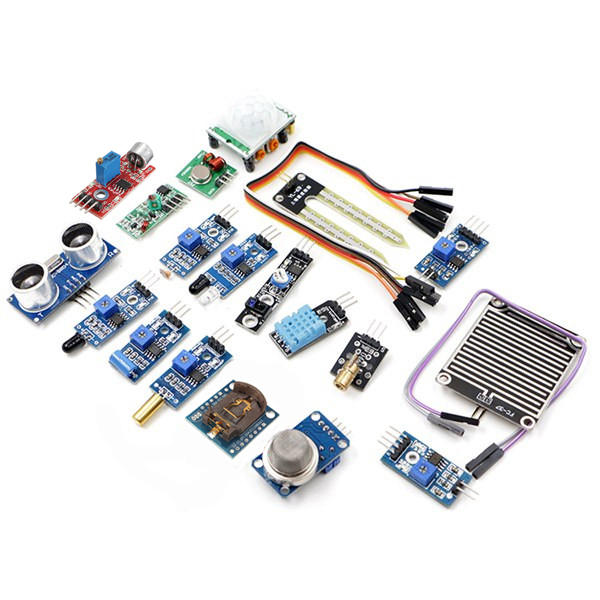 Geekcreit® 16 In 1 Sensor Module Kit Laser Ultrasonic Obstacle Avoidance For Raspberry Pi 2 Pi2 Pi3 Carton Box Package