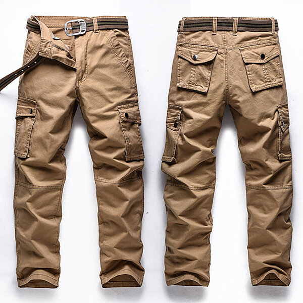 1666990323b Big Size 30-48 Multi Pocket Cargo Pants Fashion Mens Outdoor Army Casual  Cotton Trousers COD
