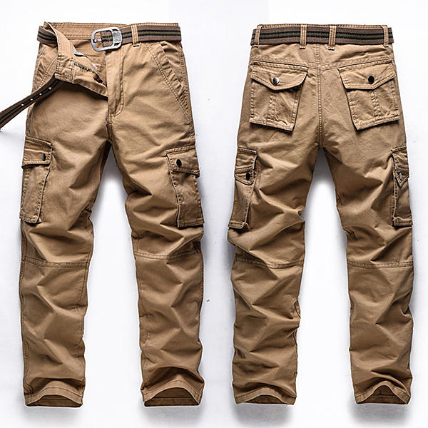 a5b1c0f34b3 Big Size 30-48 Multi Pocket Cargo Pants Fashion Mens Outdoor Army Casual  Cotton Trousers COD