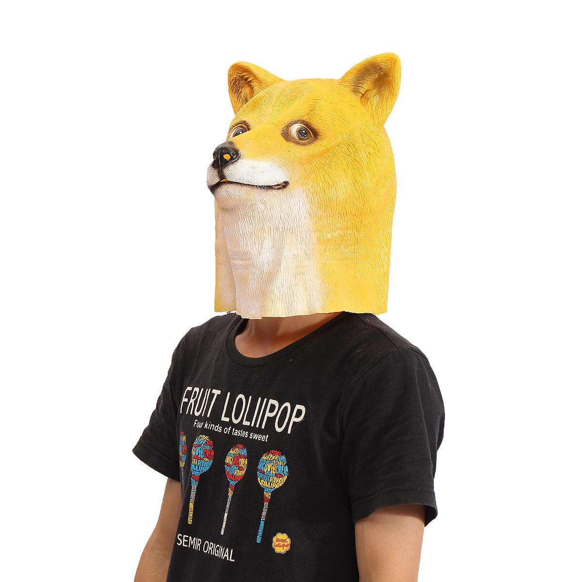 Доже голова маска жуткое животное Хеллоуин костюм театр игрушки проп латекса партия
