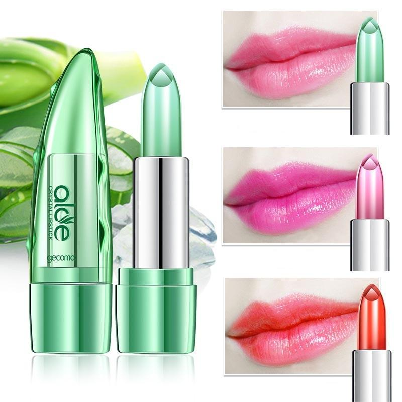 Temperature Change Color Jelly Lipstick Aloe Vera Lip Stick Long Lasting Moisturizer
