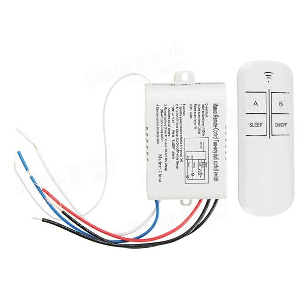 AC 220V 2-Way ON/OFF Manual Wireless Remote Control Switch Receiver ...