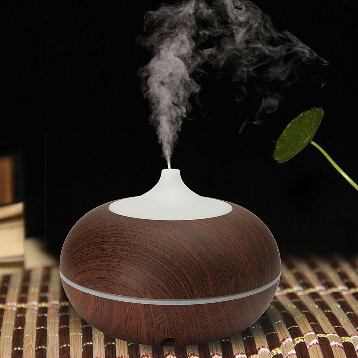 300ml couleur changeante LED ultrasonore Diffuseur d'huiles essentielles de l'humidificateur Aroma traitement purificateur d'air Aromapulvérisation