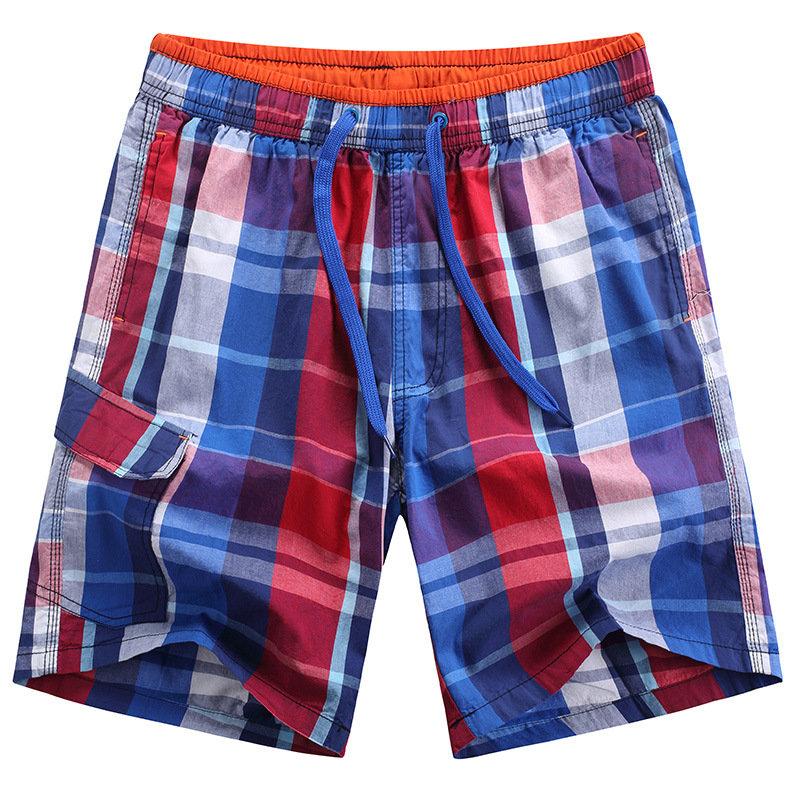 Pantaloncini casual degli uomini di estate Cotone di moda Pantaloncini da spiaggia di lattice di rapido essiccamento