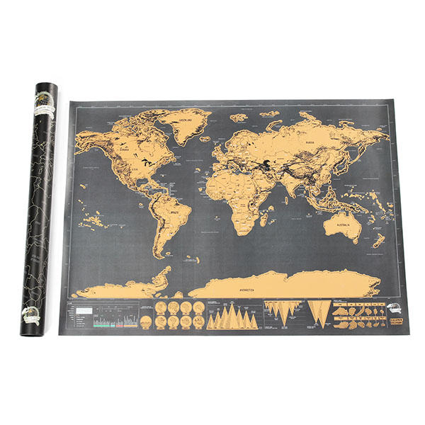 world edition scratch map travel footprint creative gift custom ...