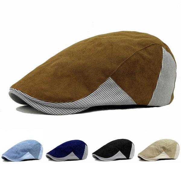 bbb72e43363 Unisex Men Women Corduroy Cotton Beret Hat Buckle Adjustable Paper Boy  Newsboy Cabbie Golf Cap COD