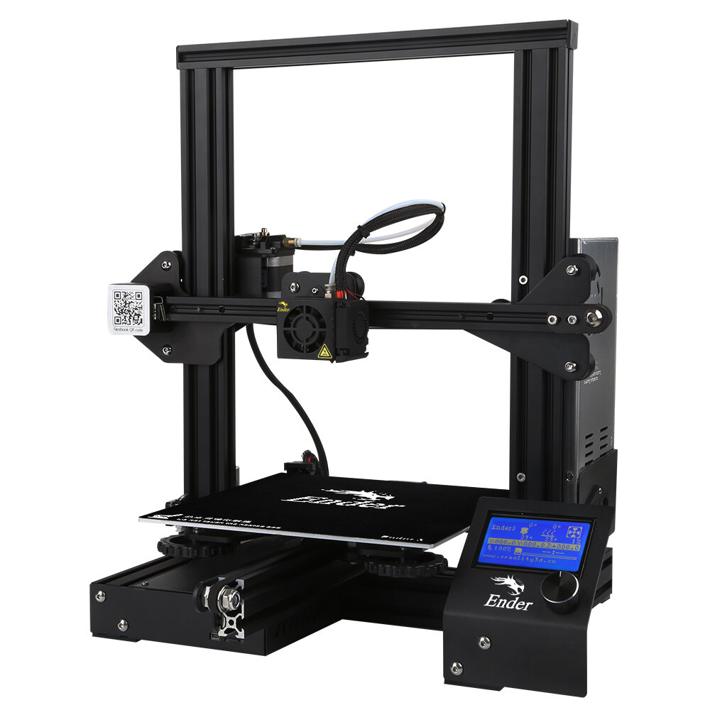Creality 3D® Ender-3 V-slot Prusa I3 DIY 3D Printer Kit 220x220x250mm Printing Size With Power Resume Function/MK10 Extruder 1.75mm 0.4mm Nozzle