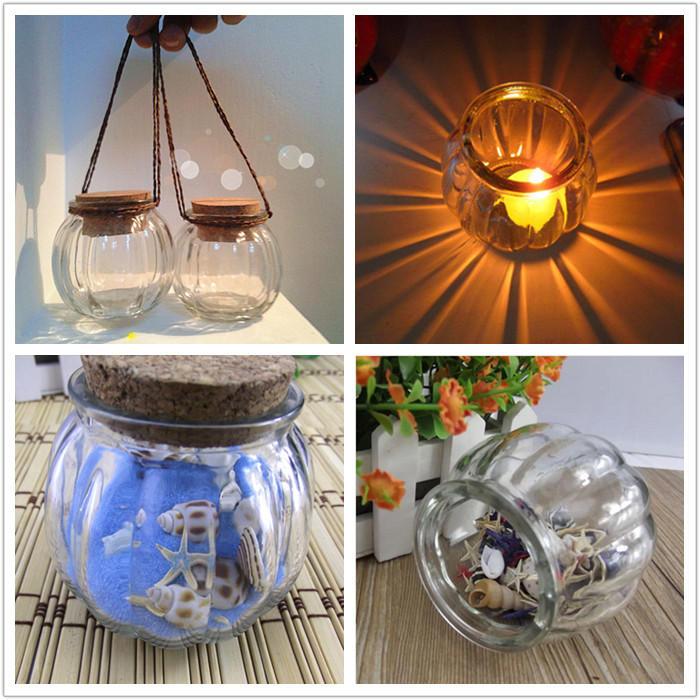 Candela di vetro di vetro della bottiglia d'attaccatura della zucca bastone Candela di candela del vaso bastone Decorazione domestica della decorazione della candela