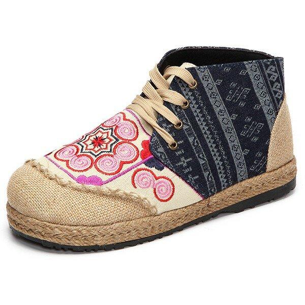 Женщин ботинки хлопка зашнуровать высокие верхние случайные короткие сапоги на открытом воздухе