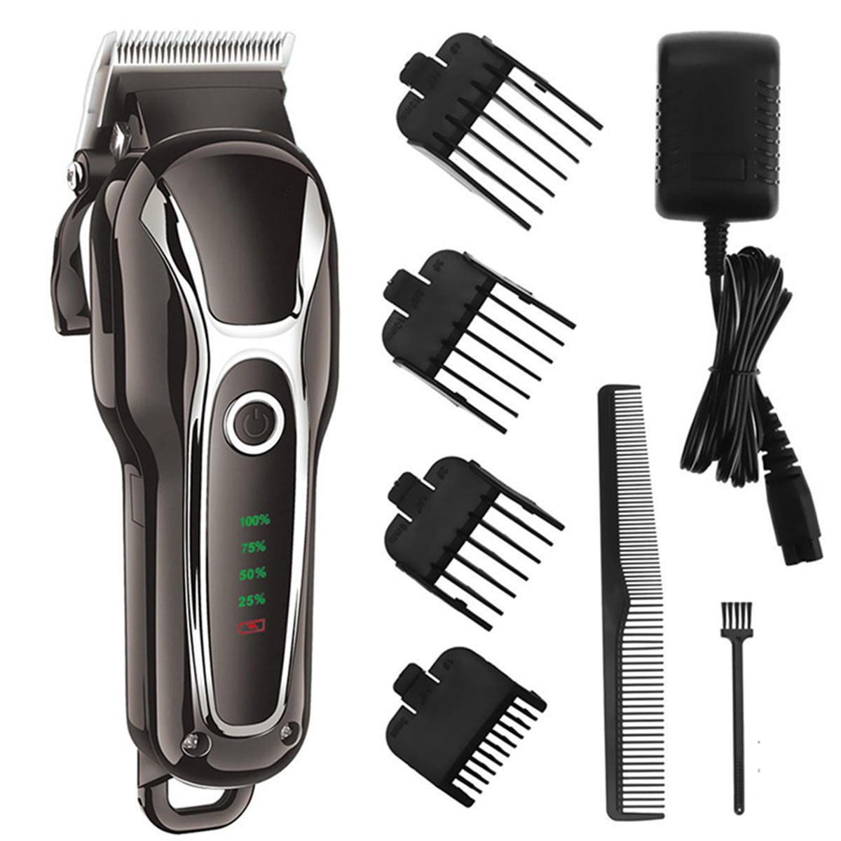 SURKER Barber Salon Tondeuse Électrique Tondeuse Rechargeable Tondeuse Barbe Rasoir Rasoir De Toilettage Lame En Acier D'affichage Lavable