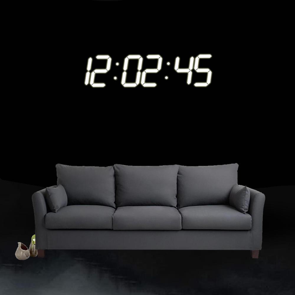f4ae595a7d6 Super Grande Digital LED Alarme Relógio Parede Relógio Controle Remoto  Temporizador De Contagem Cronômetro Temporizador De Esportes