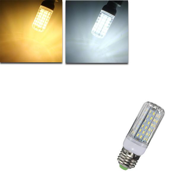 E27 E14 E12 B22 G9 GU10 9W 96 SMD 4014 LED Warm White Pure White Cover Corn Bulb AC110V