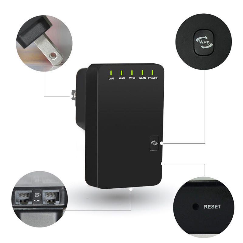Wavlink WL-WN523N2 300Mbps Wireless WiFi Router Repeater AP Mode 802.11n/b/g Network Singal Extender