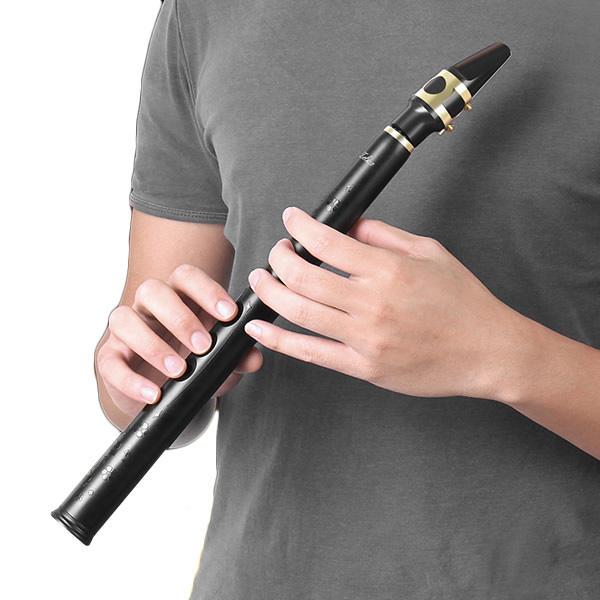 Zebra™ 8 Agujeros Clave de Mini-BB Saxofón del Bolsillo con Boquilla de Alto