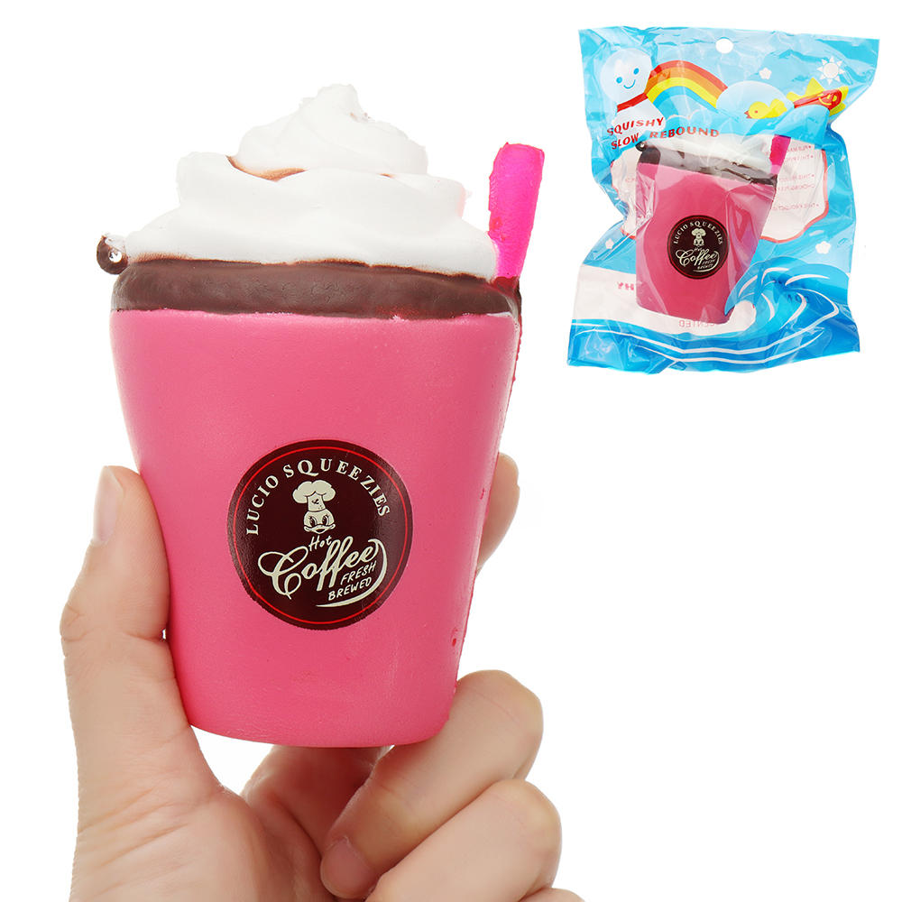 Strawberry Ice Cream Cup Squishy 12cm Slow Rising With Packaging Collection Gift Soft Toy
