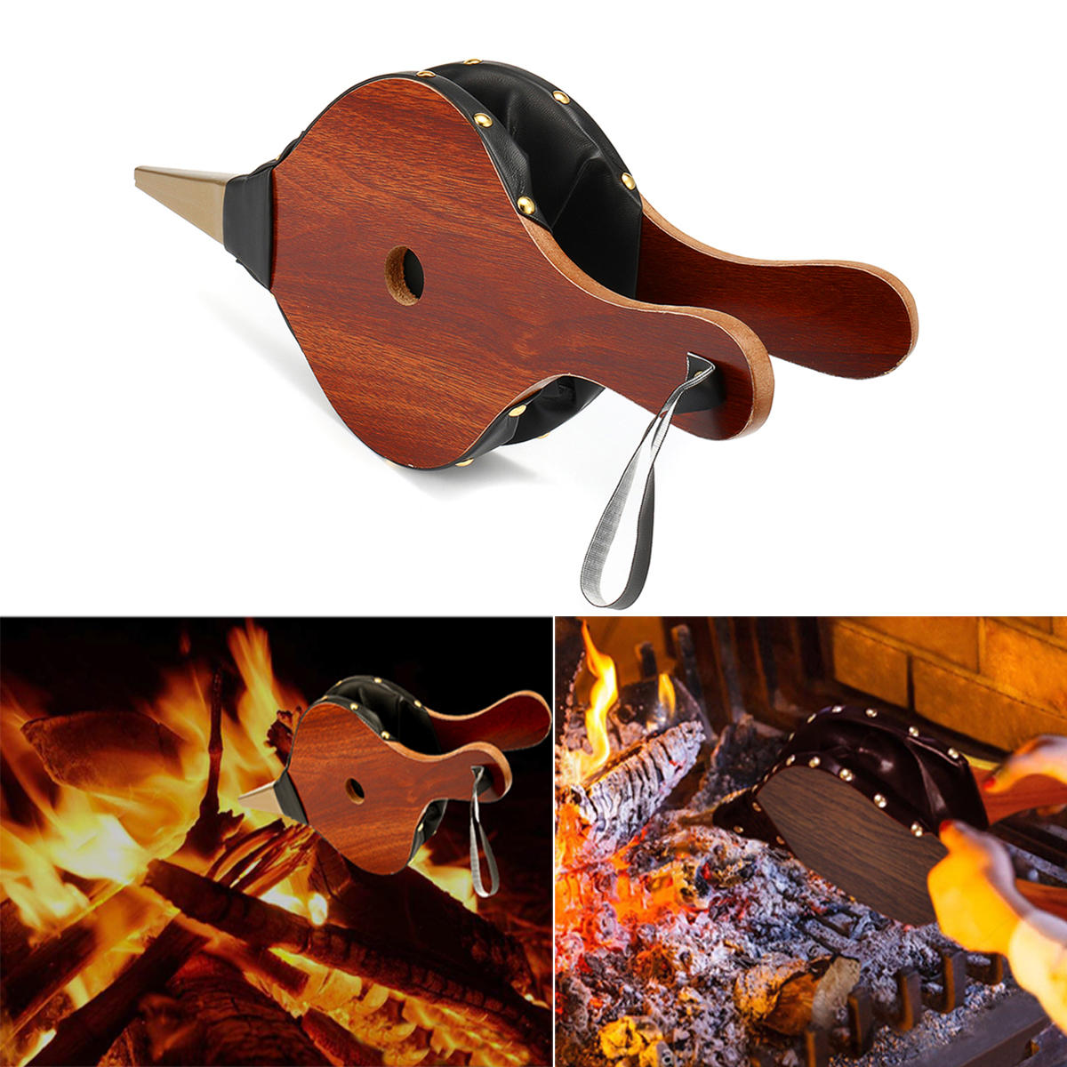 outdoor wood fireplace hand barbecue bbq air fire blower cooking rh banggood com