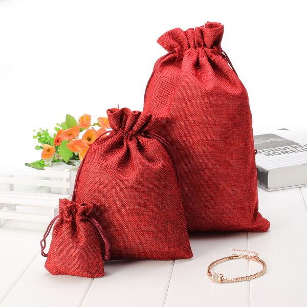 5pcs multi de los colores de la vendimia bolsas de regalo de cumpleaños bolsa de lino del boda bolsas de regalo de chocolate
