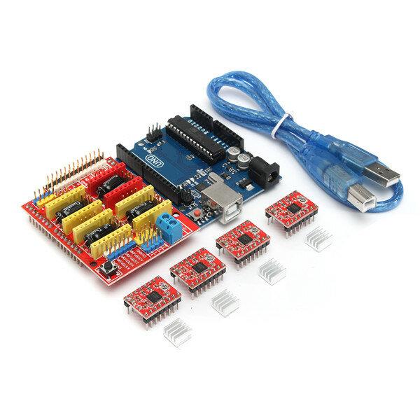 Kit de Impresora 3D para Arduino CNC Escudo V3+UNO R3+A4988*4 GRBL Compatible