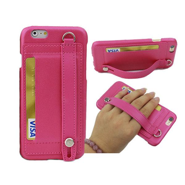 Nuova cinghia di moda fibbia custodia in pelle antiscivolo con slot per schede copertura della cassa del basamento per iPhone 6/6s