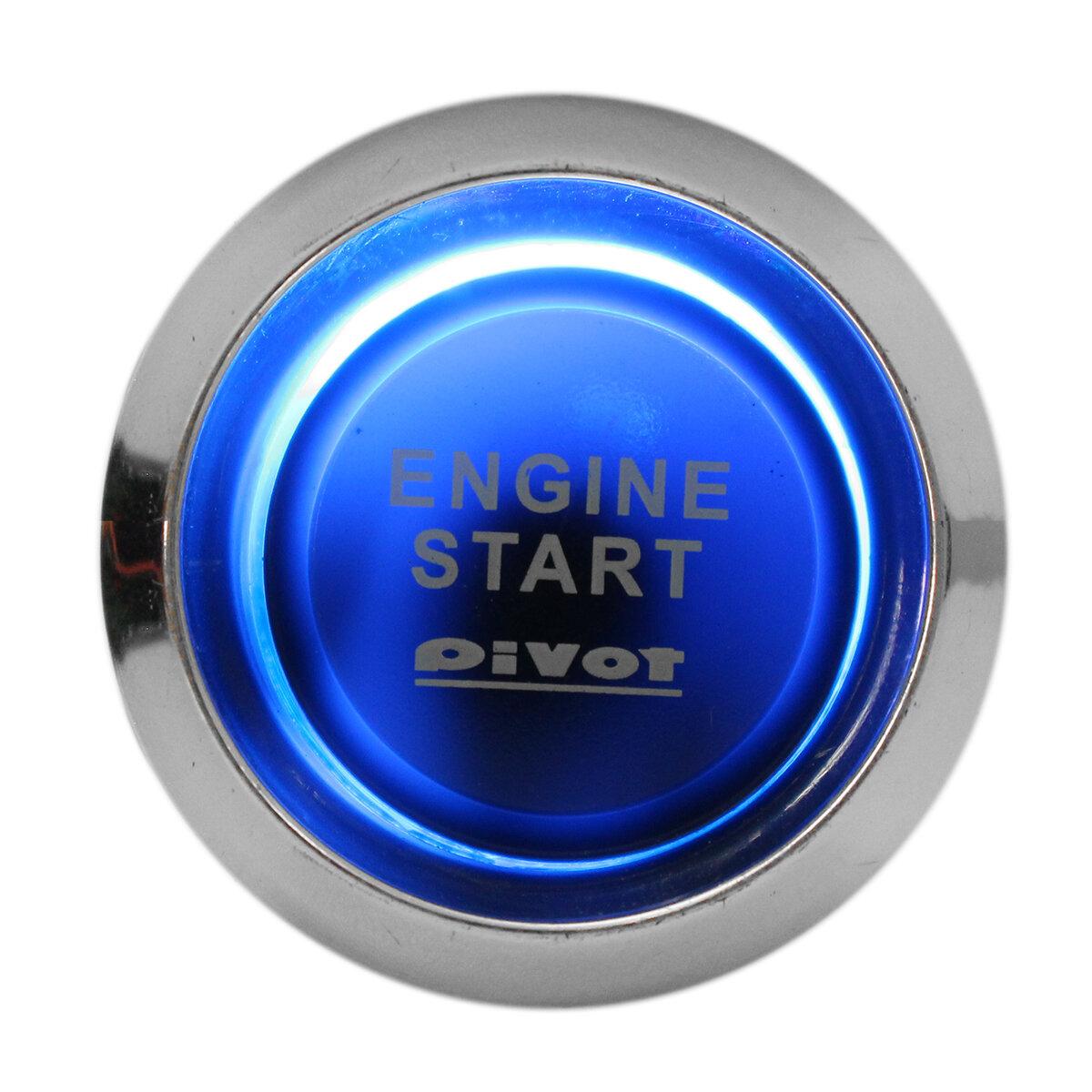 car auto engine start push button switch ignition starter universal Start Here Button car auto engine start push button switch ignition starter universal kit blue led
