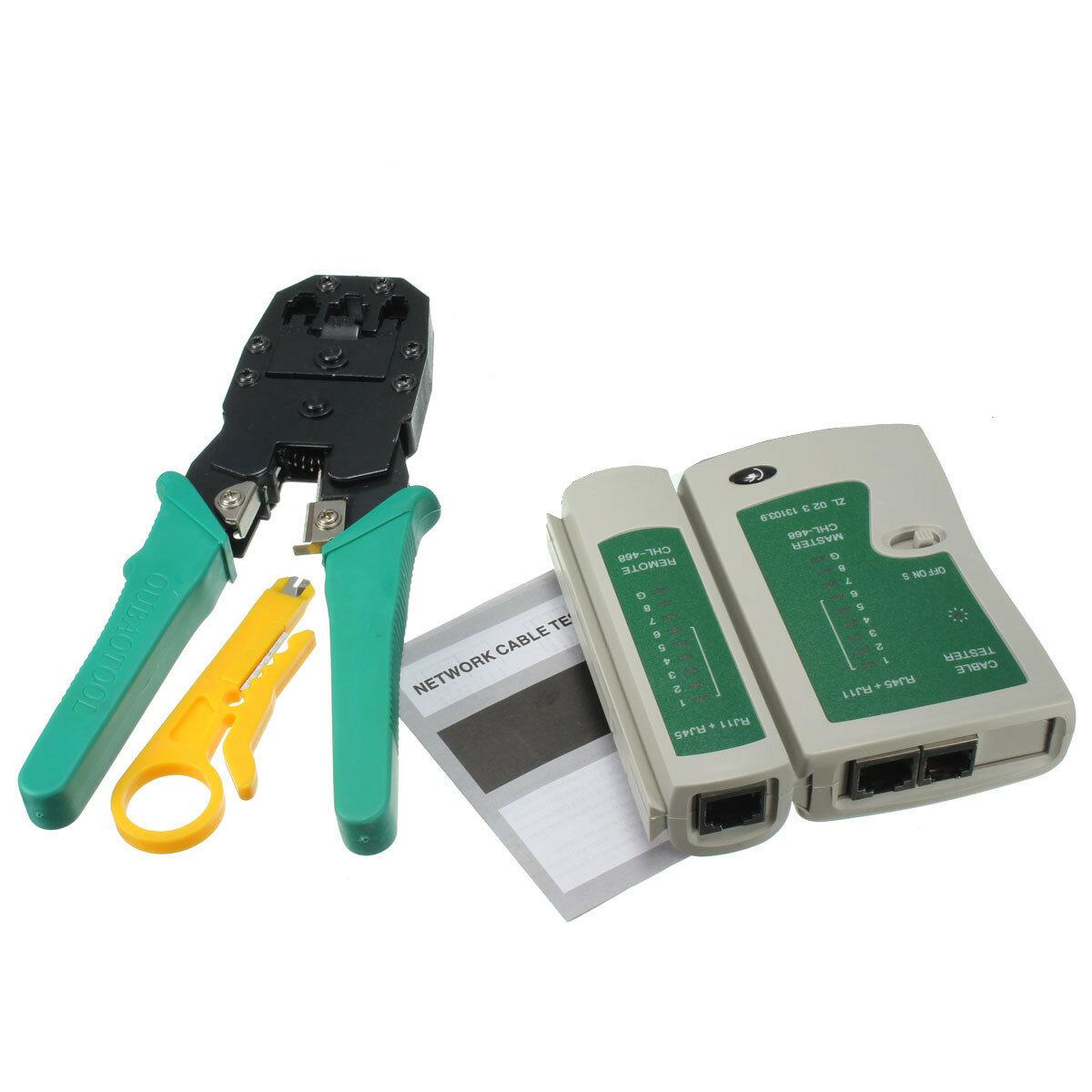 Rj12 Wiring Cat5 Control Diagram Rj11 To A Rj45 Schematic And Lan Network Tool Kit Cable Testercrimp Crimper Rh Banggood Com Using