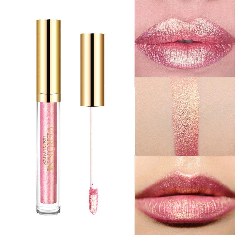 Glitter Lip Gloss Lèvres Pigment Minéral Liquide Lip Stick Gold Shimmer Longue durée Maquillage Cosmétiques