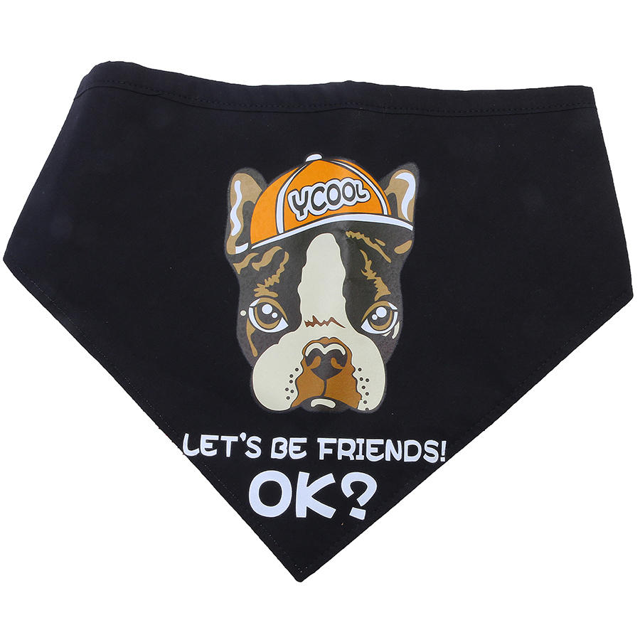 Yani KG 1 Canna di cane Bandana Canna Black Let's Be Friend Puppy Accessorio per animali da compagnia