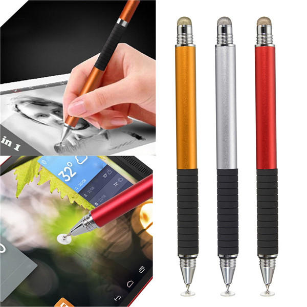 2 in 1 Capacitive Pen Touch Screen Drawing Pen Stylus For Smartphone Tablet PC